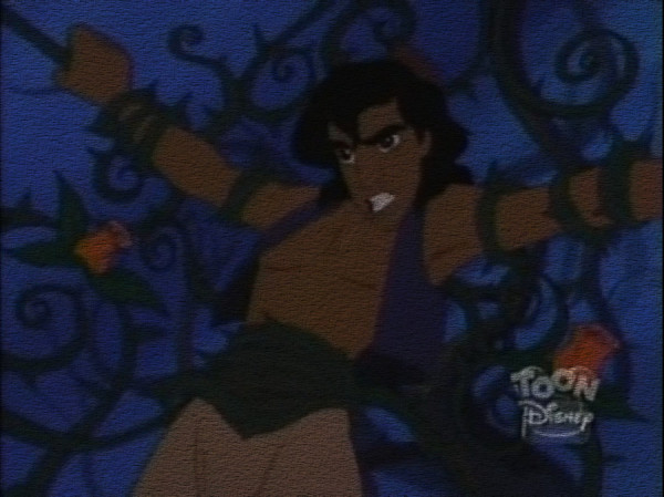 Aladdin_tied_up_in_Thorns_by_GingerBizkits