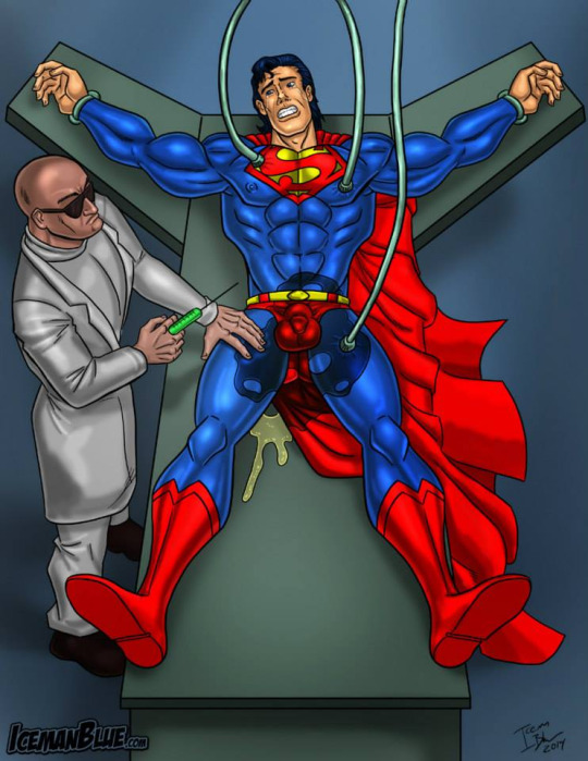 Cartoon superhero bondage